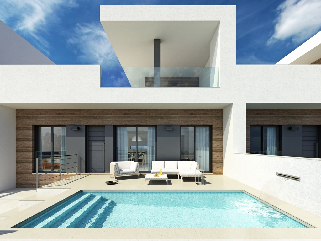 Modern townhouses in Formentera